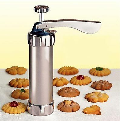 Cookie Maker Pump Press Machine Cake Decor 20 Mold 4 Nozzles Biscuit Baking Tool