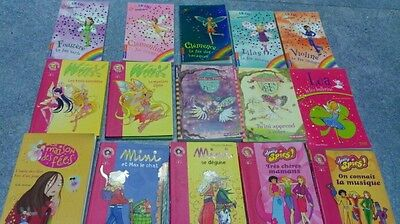 Lot 2 de 14 livres bibliotheque rose fille ballerine magique, totally spies mini