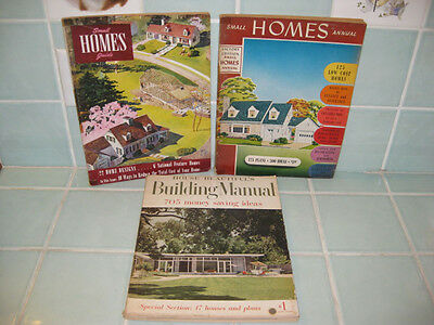 3 Vintage 1947 '48 '53 Small Home Annual Guide Manual House Building Plan Design