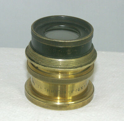 Thornton Pickard Pantoplanat f8 Antique Brass Camera Lens - Some Damage