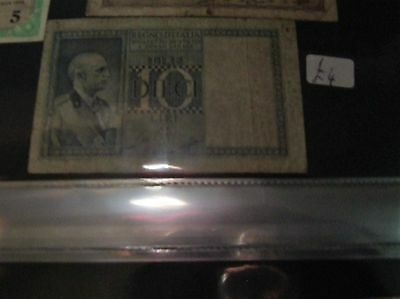 1939 italy 10 lire banknote