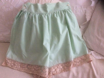 ~*Sweetest Mint Green Vintage French Lace Trim French Knickers*~