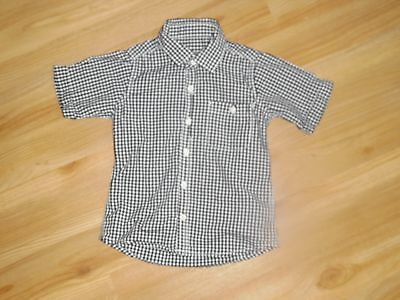 boys black and white checke short sleeve shirt from next age 2-3 yrs
