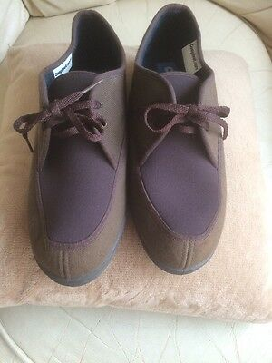 Mens Cosyfeet Lace Up Summer Textile Shoes Sz 10