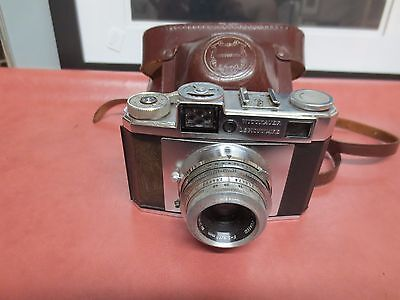 Vintage Wittnauer Legionnaire 35mm Camera in Brown Leather case with strap
