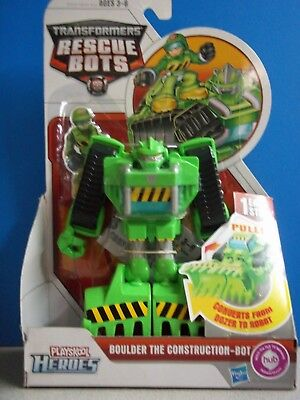 Transformers Rescue Bots Boulder Construction-Bot New Playskool Hasbro 2011