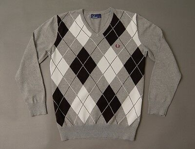 Jumper Fred Perry V Neck Size M Cotton