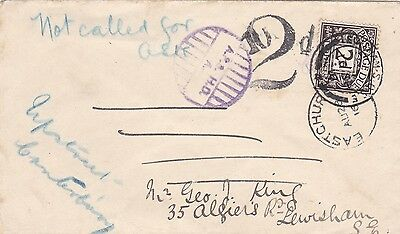 Gb Ww1 1916 Cover  With Rare Apo H.d. Cachet & Returned Letter Section Lebel 28*