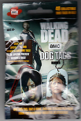 2016 Amc The Walking Dead Season 5 Unopened Collectible Dog Tags Pack / Sticker