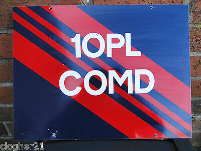 Authentic aluminium Royal Military Police wall sign Clooney Base, L/Derry 1980's