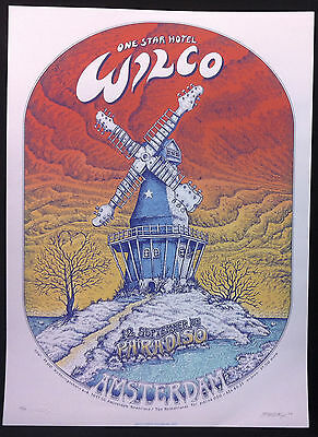 WILCO 20017 Paradiso Amsterdam Concert Poster Signed By EMEK UNCLE TUPELO