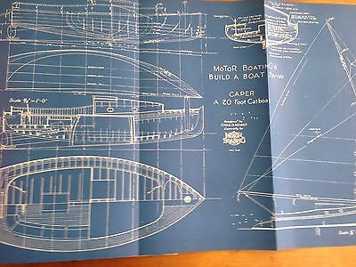 SAILBOATS & AUXILIARIES YOU CAN BUILD Motor Boating BLUEPRINTS boat building #33