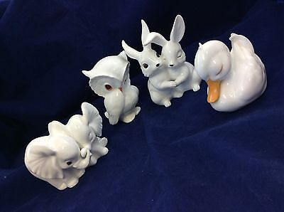 Lot 4 Vintage Royal Osborne Malaysia China Animal Figurine Rabbit Bundle
