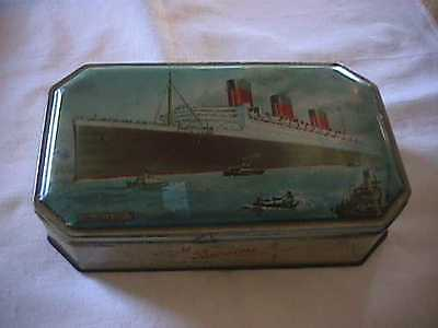 Bensons English Confections R.M.S. Queen Mary Candy Tin