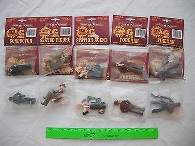 Lot of 10 Bachmann Men Figures People, Station Agent Seated, Big Haulers,G Scale