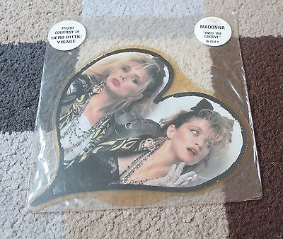 "MADONNA 'Into The Groove' RARE Heart Shaped Picture Disc 7"" VINYL Single 1985"
