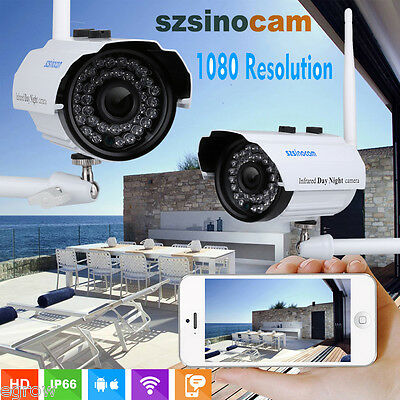 2.0MP Security 1080P Outdoor HD Night Vision IP WIFI Wireless CCTV Home Camera