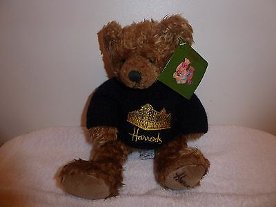 Harrods Brown Bear With Navy Blue Jumper