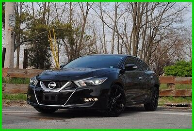 2016 Nissan Maxima 3.5 SR Navigation Nav Heated Ventilated Midnight Repairable Rebuildable Salvage Wrecked Runs Drives EZ Project Needs Fix Save Big