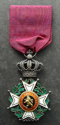Belgium: Knights' Order of Leopold I medal order very fine detailed Type II