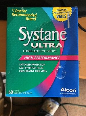 SYSTANE ULTRA High Performance Eye Drops 60 VIALS BNIB