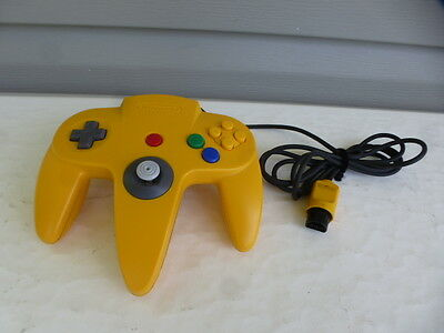 Official N64 Yellow Controller For Nintendo 64 System Nus-005