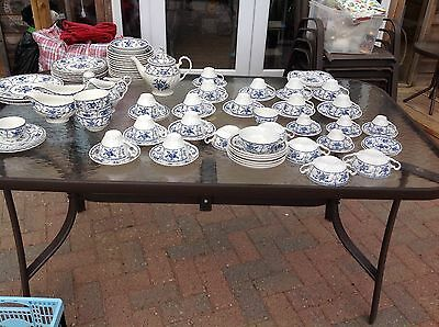 Johnson Brothers Indies Blue And White 93 Pieces