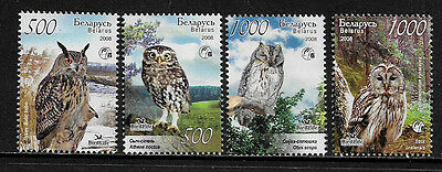 Belarus 682-5 Mint Never Hinged Set - Birdlife International - Owls