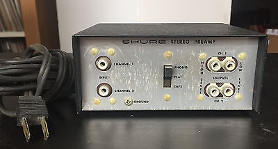 Shure M64 Stereo Preamplifier Phono Tape Recorder Player Turntable Preamp