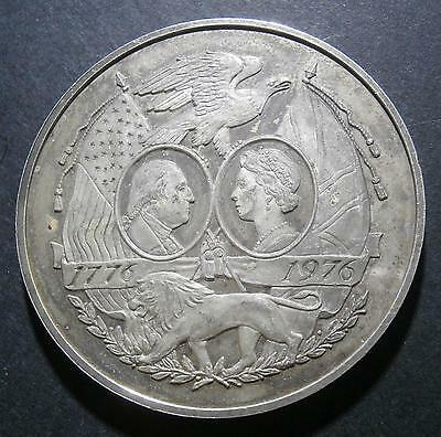 USA medallion - 1976 Bicentennial of independence - uniface 44.91g silver? 44mm