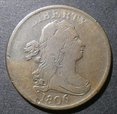 USA - Half Cent 1806 - small high 6 & stemless wreath - Breen#1550