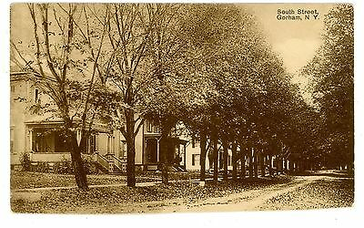 Gorham NY - HOUSES ON SOUTH STREET - Postcard