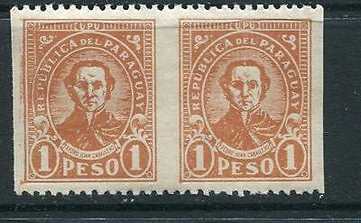 Paraguay 1927/38 Sc 289 MH ERROR Horizontal Pair Imperforated Vertically par945