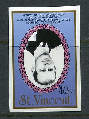 St. Vincent 1987 Inverted Center ERROR MNH Imperf. Face $2.50 SKU 923