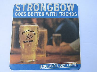 Beer Coaster <> BULMERS Strongbow Dry Cider Goes Better With Friends ~*~ ENGLAND