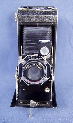 Vintage Kodak Six-16 Folding Bellows Camera with Doublet Shutter + Leather Case