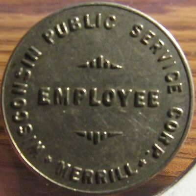 Very Old Wisconsin Public Service Corp Merrill, WI Employee Transit Bus Token