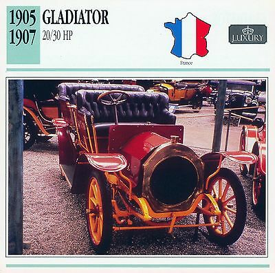 1905-1907 GLADIATOR 20/30 HP collector card.