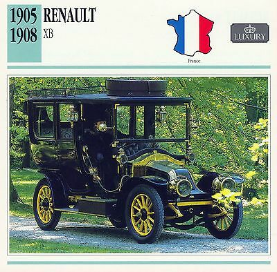 1905-1908 RENAULT XB collector card.
