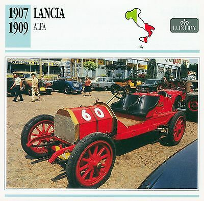 1907-1909 LANCIA ALFA collector card.
