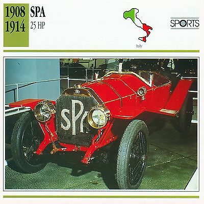1908-1914 SPA 25 HP collector card.
