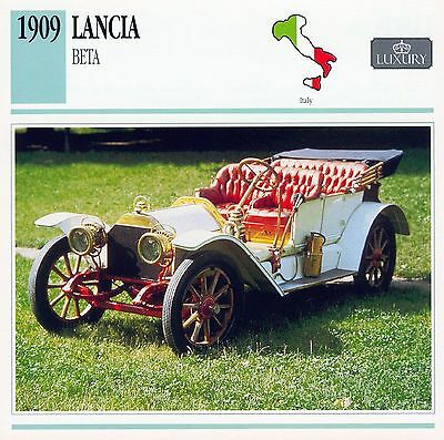 1909 LANCIA BETA collector card.