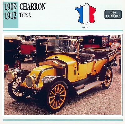 1909-1912 CHARRON TYPE X collector card.