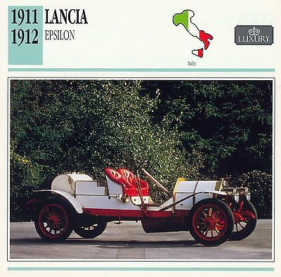 1911-1912 LANCIA EPSILON collector card.