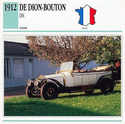 1912 DE DION-BOUTON DN collector card.