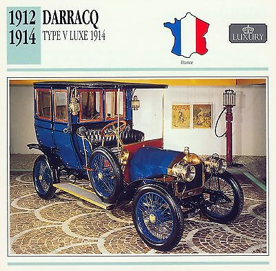 1912-1914 DARRACQ TYPE V LUXE 1914 collector card.