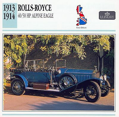 1913-1914 ROLLS-ROYCE 40/50 HP collector card.