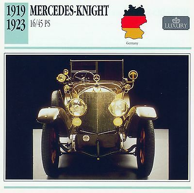 1919-1923 MERCEDES-KNIGHT 16/45 PS collector card.