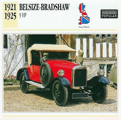 1921-1925 BELSIZE-BRADSHAW 9 HP collector card.