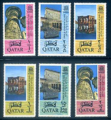 Qatar 47-52, UNESCO, Mint NH, Very Fine, Scott $22.50
